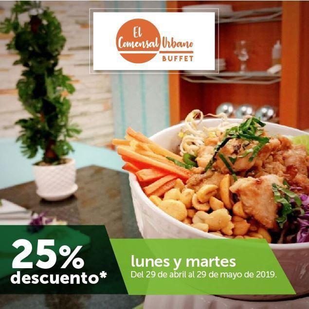 Foto de 25% de descuento en El Comensal Urbano Buffet