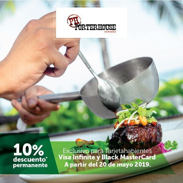 Foto de 10% de descuento permanente en PorterHouse Steak