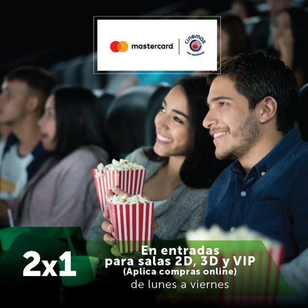 Foto de 2x1 en entradas a CINEMAS con tarjetas MasterCard de Banpro
