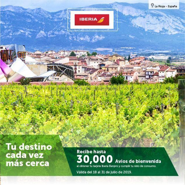 Foto de Bono de bienvenida para tarjetas Iberia Banpro