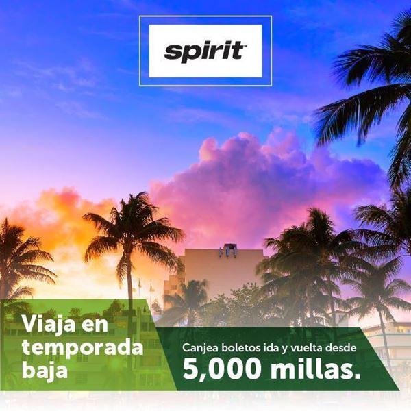 Foto de Viaje con 5000 Millas ida y regreso en temporada OFF PEAK con tu tarjeta Spirit MasterCard