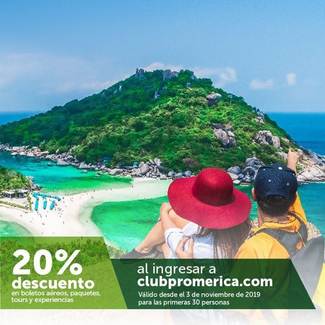 Foto de -20% en plataforma de viajes clubpromerica.com