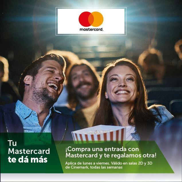 Foto de 2x1 en entradas a CINEMARK con tarjetas MasterCard de Banpro