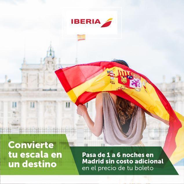 Foto de Pasa de 1 a 6 noches en Madrid sin costo adicional con tu iberia Banpro