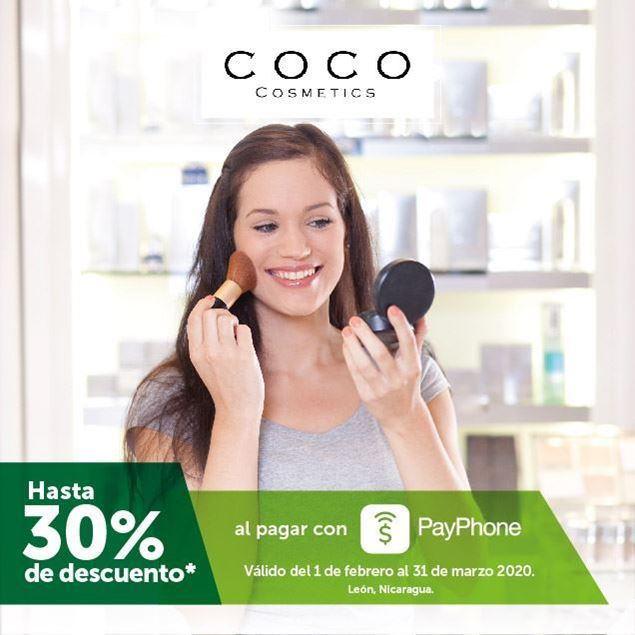 Foto de Hasta -30% al pagar con PayPhone en Coco Cosmetics