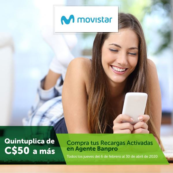 Foto de Quintuplica tus recargas MOVISTAR en Agentes Banpro