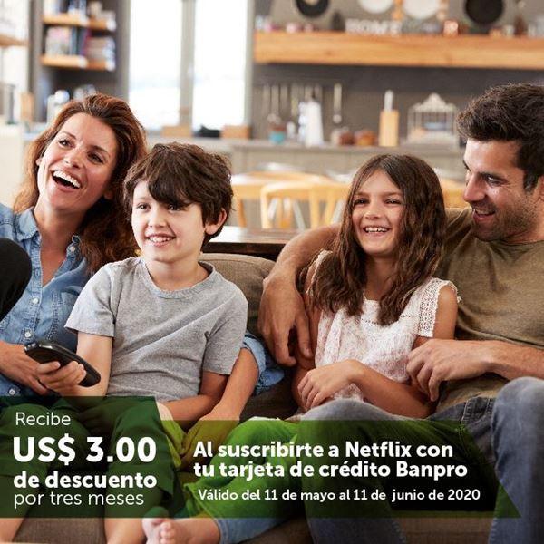 Foto de Recibe US$ 3.00 de descuento por 3 meses al suscribirte a Netflix