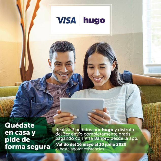Foto de Quédate en casa y pide de forma segura con HUGO y tus tarjetas VISA