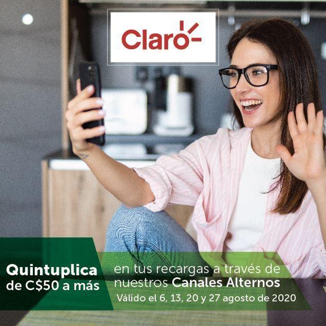 Foto de Quintuplica tus recargas CLARO con nuestros canales alternos