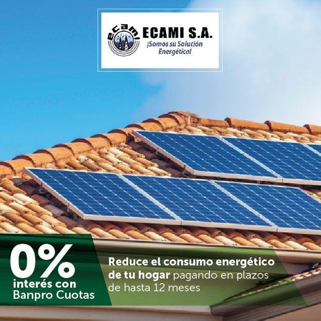 Foto de Hasta 12 meses sin intereses en sistemas solares en ECAMI