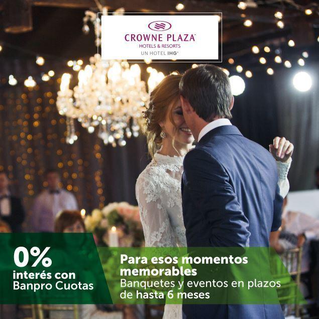 Foto de Banquetes y eventos a 6 meses de plazo en HOTEL CROWNE PLAZA