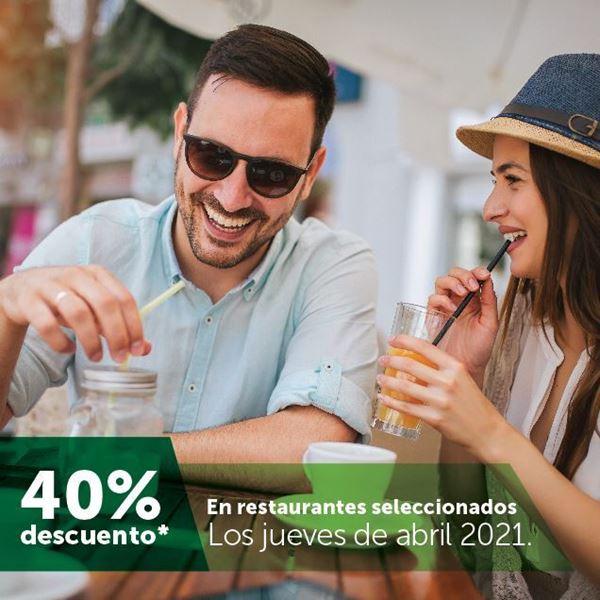Foto de 40% de descuento en restaurantes seleccionados los jueves de abril