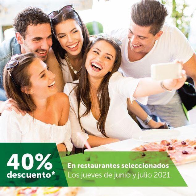 Foto de 40% de descuento en restaurantes seleccionados los jueves de junio y julio